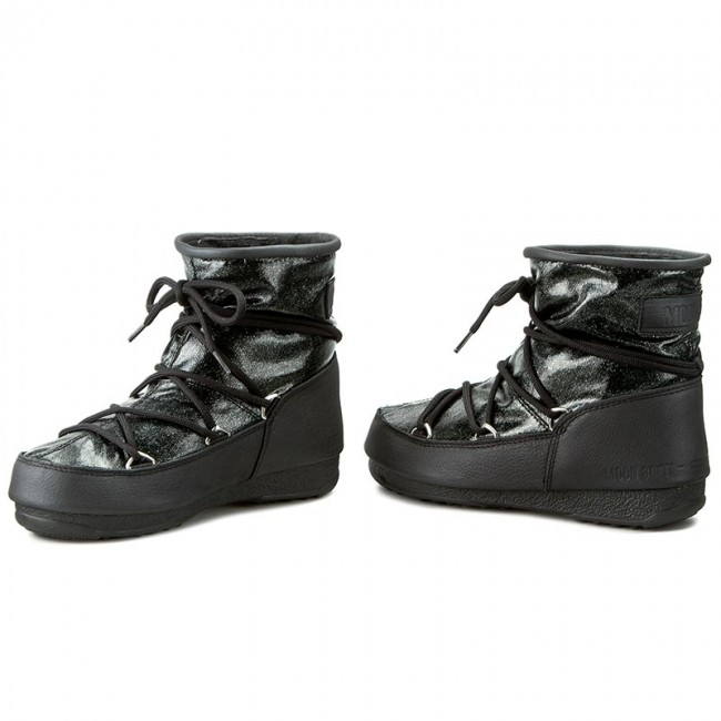 852d9928b452 Snow Boots MOON BOOT - Low Glitter 24005500002 Nero Black - Winter ...