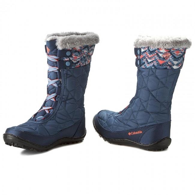 Snow Boots COLUMBIA - Youth Minx Mid II Waterproof Omni-Heat BY1336 Dark  Mountain  5e2ecb6ef49