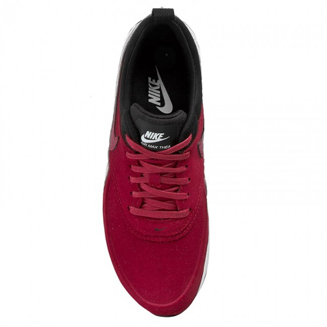 Shoes NIKE W Nike Air Max Thea Prm Lth 845062 600 Noble RedNoble RedBlack