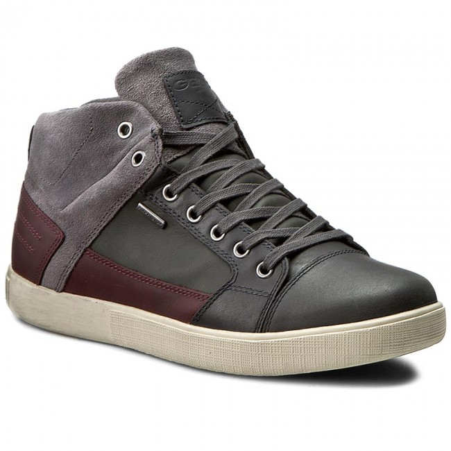 Mens U Taiki B ABX a High Sneaker, Grey Geox