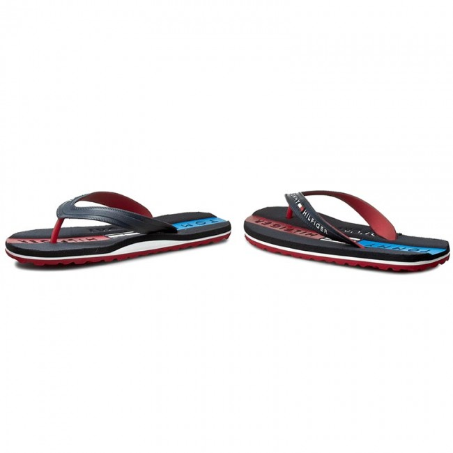 ea4f54569 Slides TOMMY HILFIGER - SPORT Lane 1R FM56821068 Midnight 403 - Flip ...
