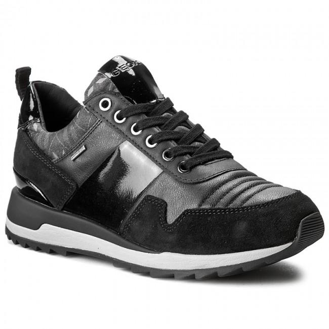 Sneakers GEOX - D Aneko B Abx A D643FA 022BN C9999 Black - Sneakers ... 5cb643f67178