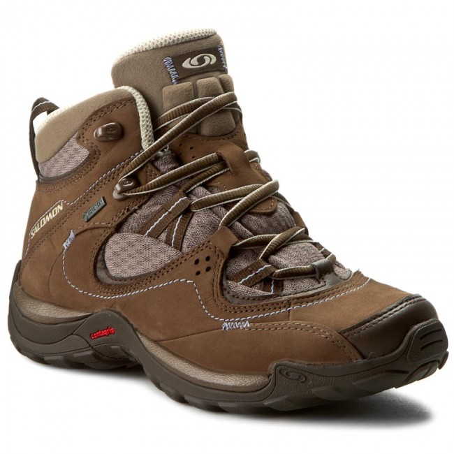 198c343a9e87 Hiking Boots SALOMON - Elios Mid Gtx 3 W 391876 20 V0 Burro Shrew ...