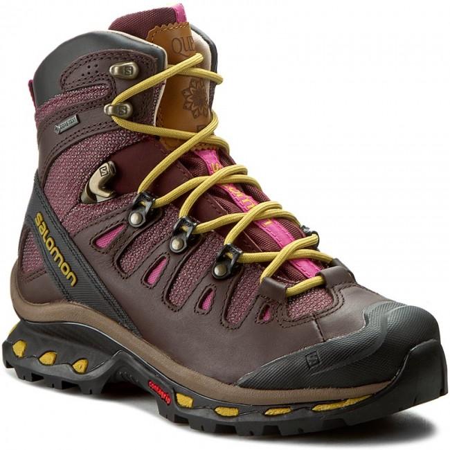 Trekker Boots SALOMON. Quest Origins 2 Gtx W 390274 20 G0 Pinot Noir/Bitter  Choc Ltr/maize