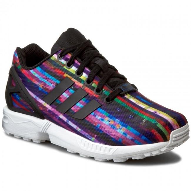 10bac7939 Shoes adidas - Zx Flux S76504 Ftwwht Cblack Blubir - Flats - Low ...