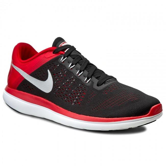 fee7686b2f532 Shoes NIKE - Flex 2016 Rn 830369 006 Blk Mtllc Slvr Unvrsty Rd Whit ...