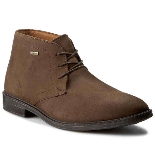 Boots CLARKS - Chilver Hi GTX GORE-TEX 261125007065 Dark Brown Nub