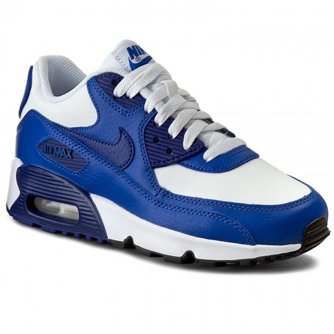 Shoes NIKE - Air Max 90 Ltr (Gs) 833412 105 White/Dp Royal