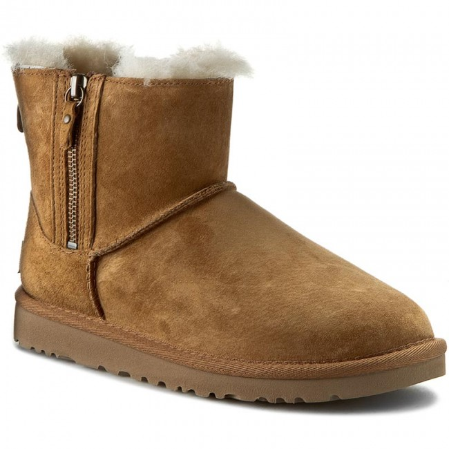 Good Ugg Australia Classic Mini Double Zip Chestnut Leather Kit