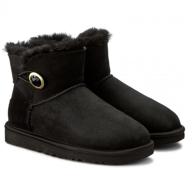 43cee3cf360 Shoes UGG - W Mini Bailey Button Ornate 1009163 W/Blk