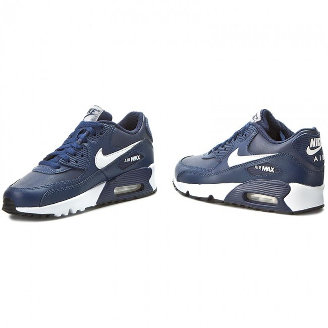 Shoes NIKE - Air Max 90 Ltr (Gs) 833412 400 Midnight Navy/White