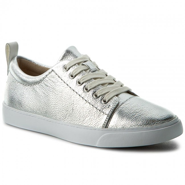 Sneakers CLARKS - Glove Echo 261186414 Silver Leather