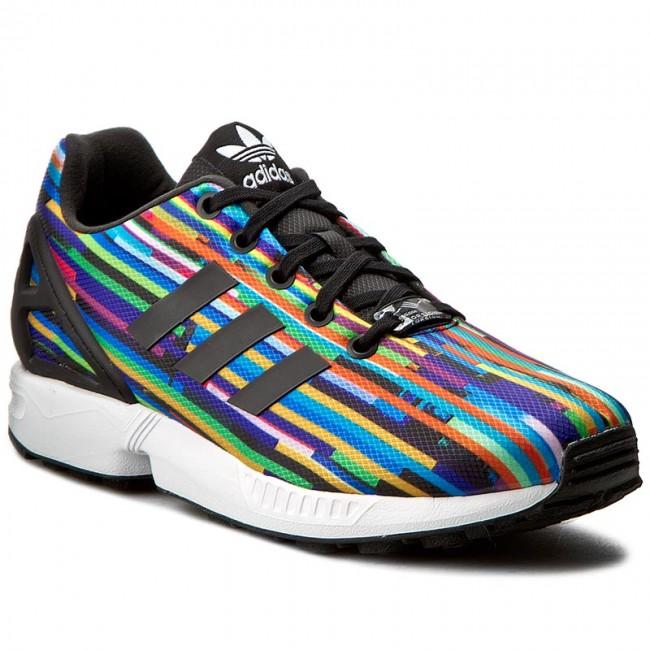scarpe adidas zx flusso j s76289 cblack / cblack / cblack scarpe