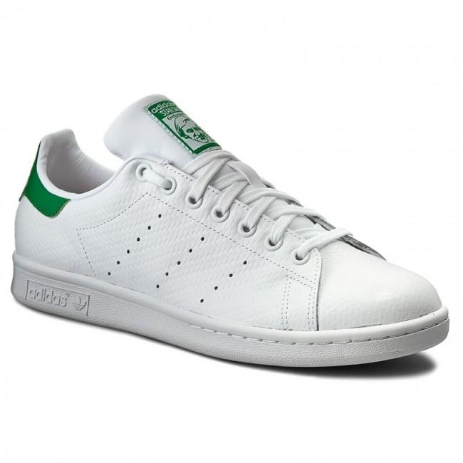 scarpe adidas stan smith s80029 ftwwht / ftwwht / verde.
