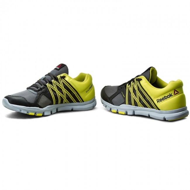 Shoes Reebok - Yourflex Train 8.0 AR3222 Alloy Coal Ylw Grey ... e73bce836