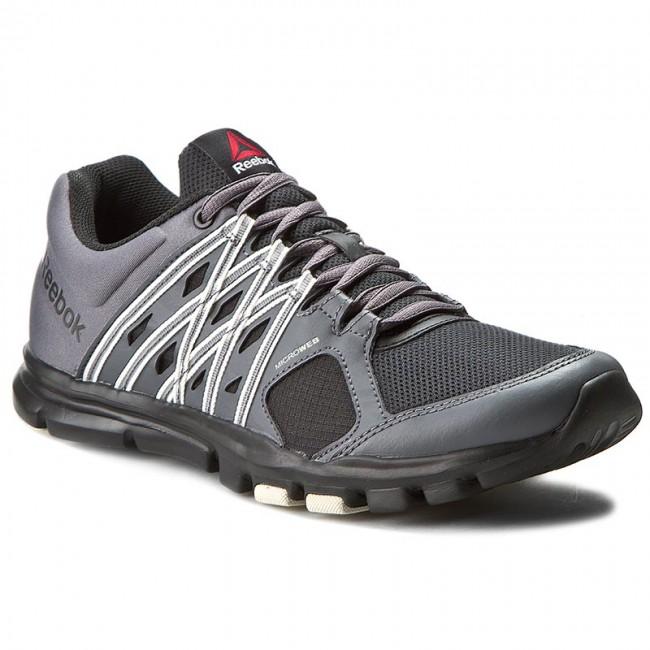 reebok yourflex. shoes reebok - yourflex train 8.0 ar3224 black/ash grey/chalk u