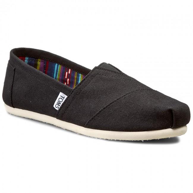 d4608b89b52 Shoes TOMS - Classic 10000869 Black Canvas - Flats - Low shoes ...