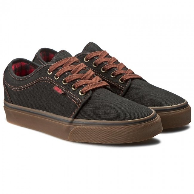 2c18e9fa3c Plimsolls VANS - Chukka Low VN000ZUMJZT (Buffalo Plaid) Black Gum - Casual  - Low shoes - Men s shoes - www.efootwear.eu