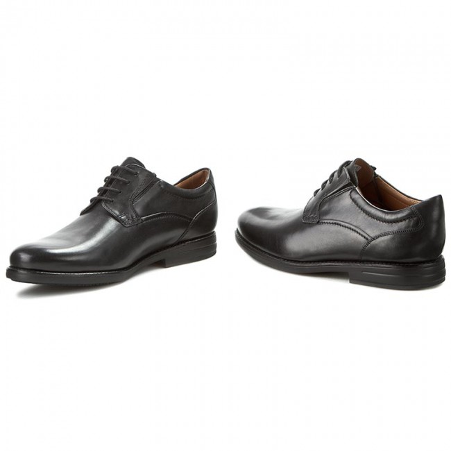 Shoes CLARKS - Hopton Walk 261192937 Black Leather