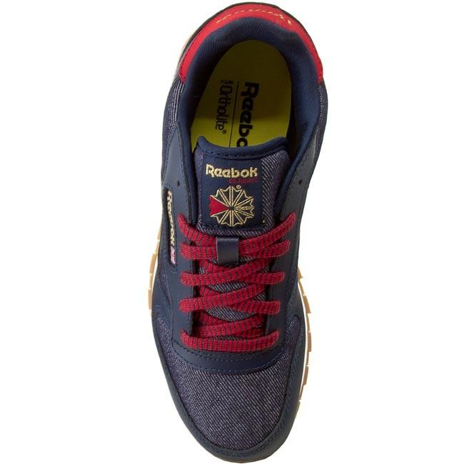 94b530d0d45 Shoes Reebok - Cl Leather Dg AR2042 Navy Red Chalk Gum - Sneakers - Low  shoes - Women s shoes - www.efootwear.eu