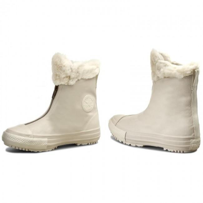 9ef2ba72e56 Boots CONVERSE - Ctas Boot Shroud Leather+Fur X 553351C  Parchment Egret Egret