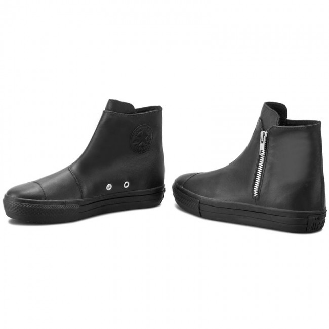 a65e60daa222 Sneakers CONVERSE - Ctas High Line Premium Leather 553312C Black Black Black