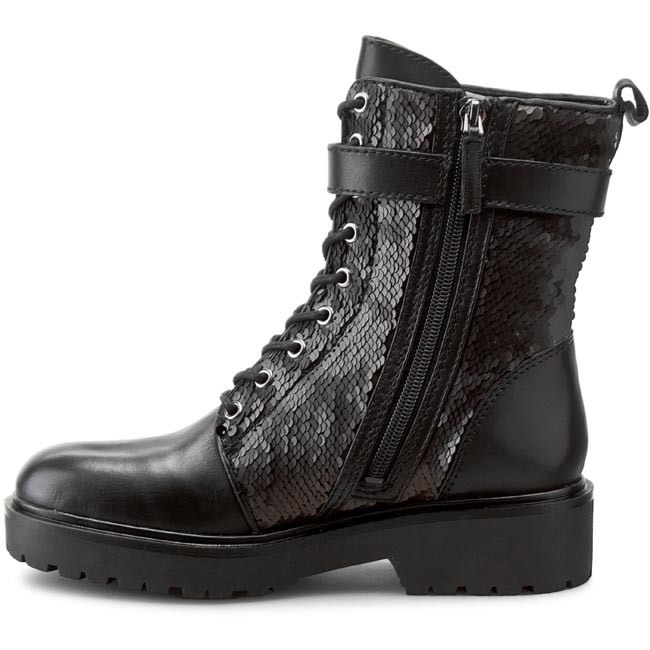 Hiking Boots GUESS - Wallo2 FLWA24 FAB10 BLACK - Trekker boots - High boots  and others - Women s shoes - www.efootwear.eu b38716c766