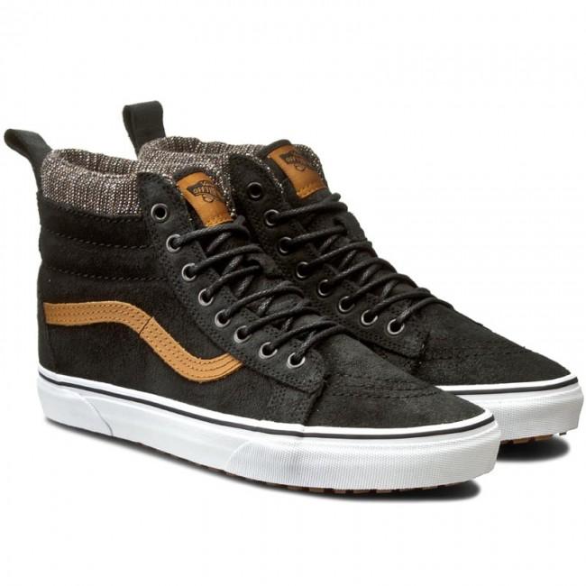 Sneakers VANS - Sk8-Hi Mte VN000XH4JTF (Mte) Black Tweed - Casual ... 60b44e691c6