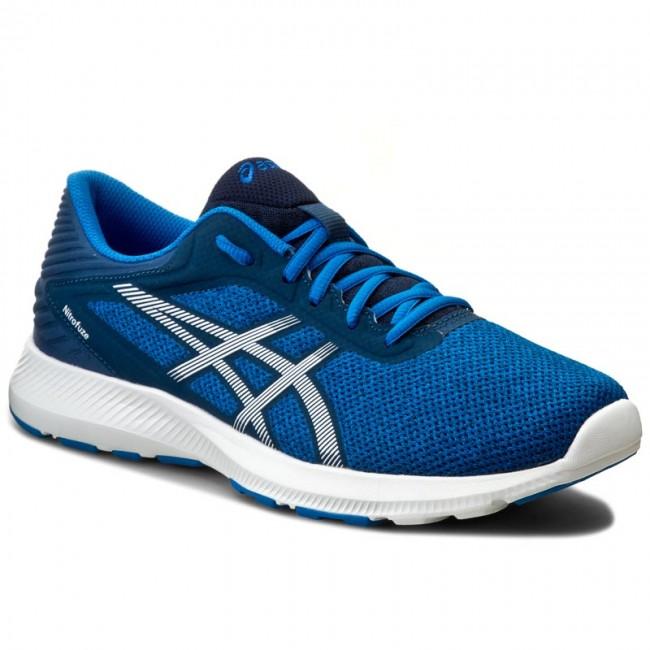 Asics / Nitrofuze Shoes / Electric Blue/White/Poseidon