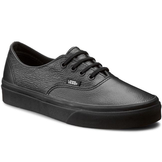 leather black vans