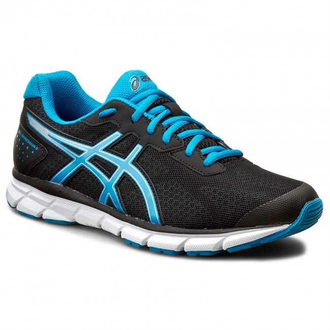 asics black blue