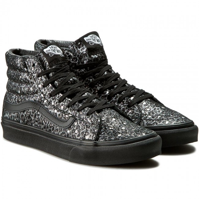 f1bd9e6889 Sneakers VANS - Sk8-Hi Slim VN00018IJQC (Metallic Leopard) Black - Flats -  Low shoes - Women s shoes - www.efootwear.eu