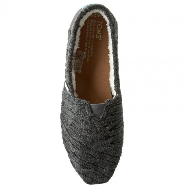 Shoes TOMS Classic 10008929 Forged Iron Grey Cable Knit With Shearling