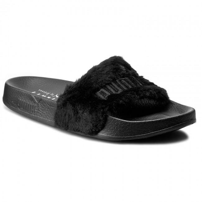 6b466a47cd4 Slides PUMA - By Rihanna Leadcat Fenty 362266 03 Black Puma Silver ...