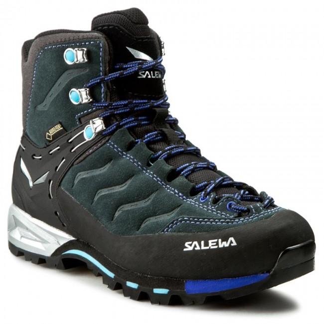 Trekker Boots SALEWA - Ws Mtn Trainer Mid Gtx 63415-0790 Carbon River Blue 5e6a9c76d