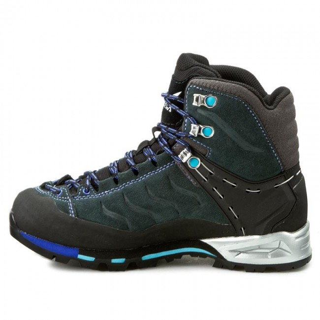 Trekker Boots SALEWA Ws Mtn Trainer Mid Gtx 63415 0790 CarbonRiver Blue