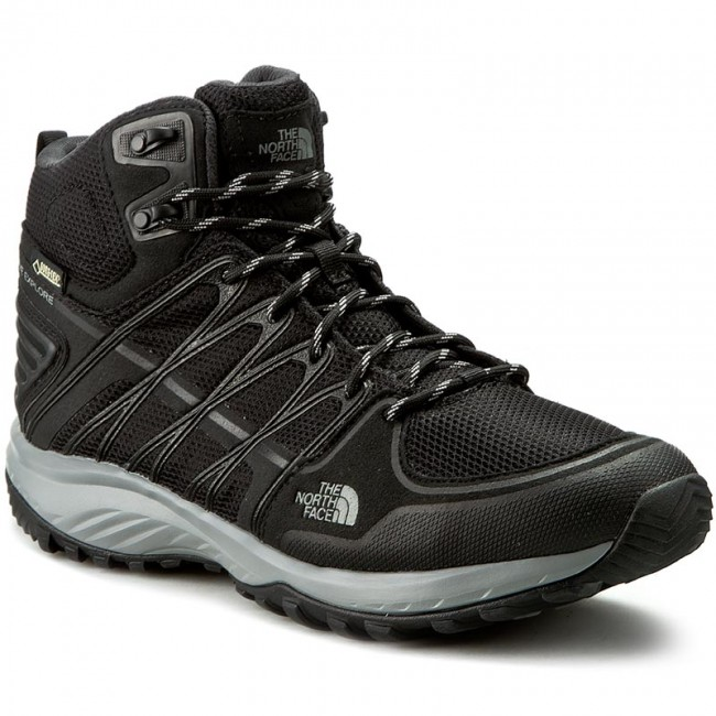Trekker Boots THE NORTH FACE  Litewave Explore Mid Gtx T92T41KW6 Tnf  BlackMetallic Silver