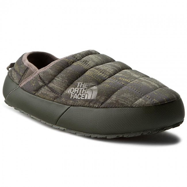 north face slippers womens green