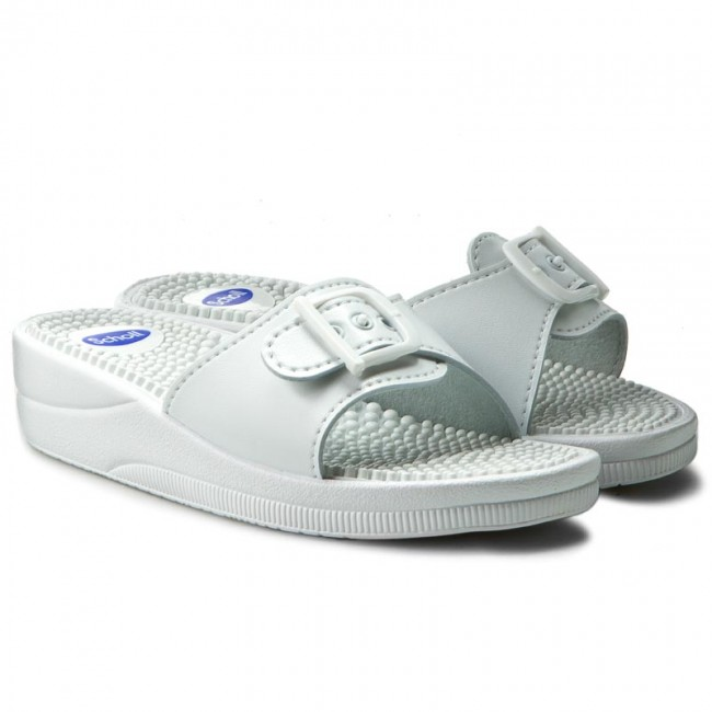 Slides SCHOLL  New Massage F20054 1065 360 White  Comfort  Mules  Mules and sandals  Womens shoes       0000198870850
