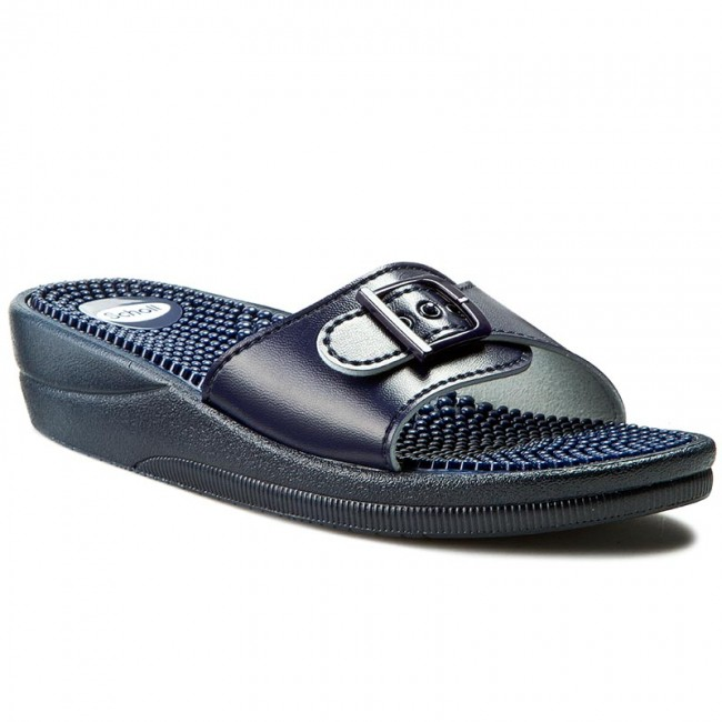 Slides SCHOLL  New Massage F20054 1040 410 Navy Blue  Comfort  Mules  Mules and sandals  Womens shoes       0000198870867
