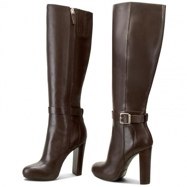 7eae2001c90b Knee High Boots GUESS - Devaina FLDEV4 LEA11 BROWN - Jackboots ...
