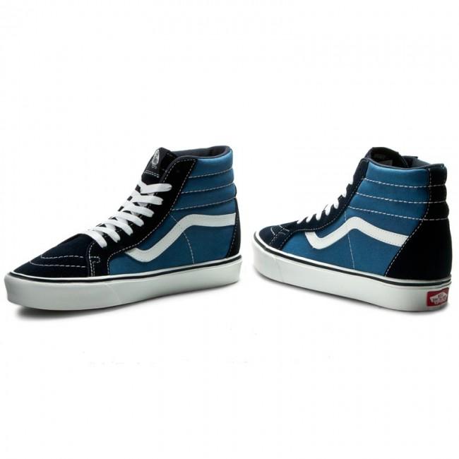 Sneakers VANS - Sk8-Hi Lite + VN0004PAIVF (Suede Canvas) Navy White ... 4258c00f60d1
