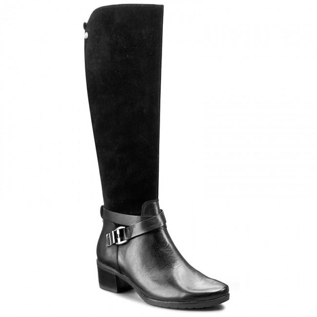 798397ed8b392 Knee High Boots CAPRICE - 9-25521-27 Black Comb 019 - Jackboots ...