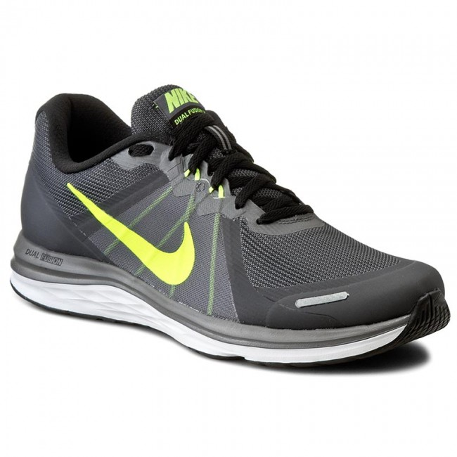 Nike Dual Fusion X Men's Running Shoes Grey/Black Volt