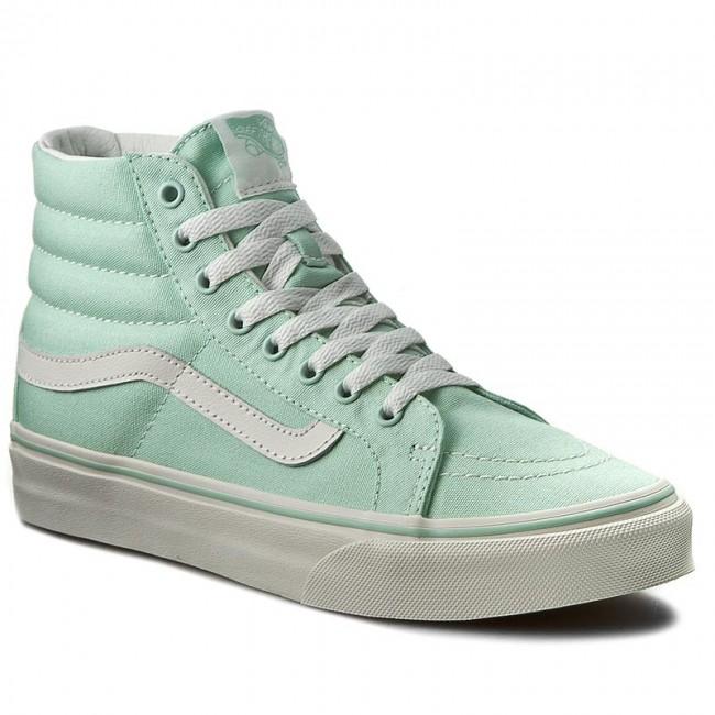 ab9baea246 Sneakers VANS - Sk8-Hi Slim VN00018IIMA Gossamer Green Blanc de Blanc