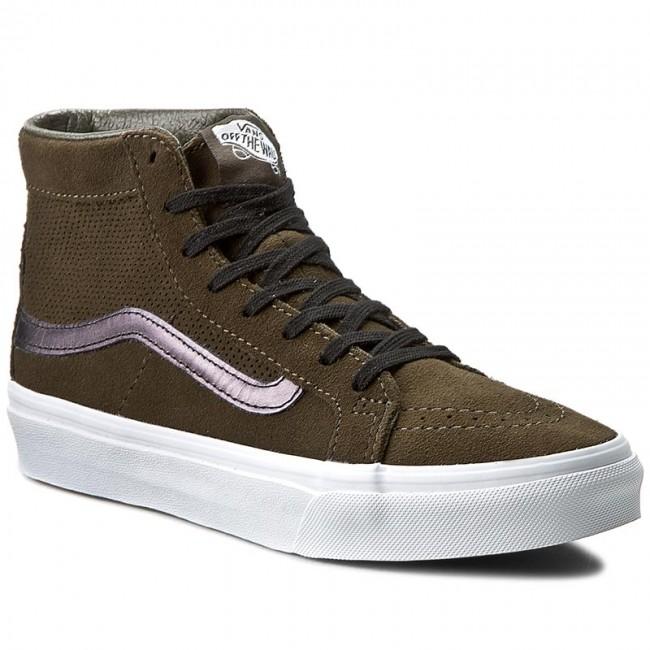 Sneakers Vans Sk8 Hi Slim Cutout Vn004kzjrg Perf Suede Tarmac