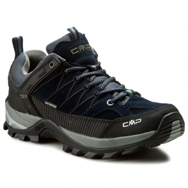 CMP RIGEL LOW SHOES WP - Hiking shoes - blue zrA8CoowG