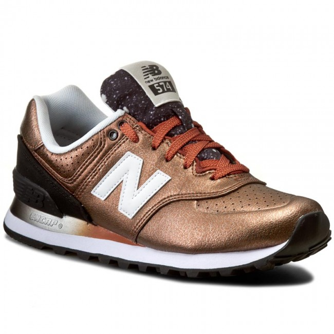 new balance gold brown