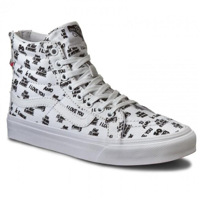 0de6188d91 Sneakers VANS - Sk8-Hi Slim Zip VN000XH8I9Y (Baron Von Fancy) White ...