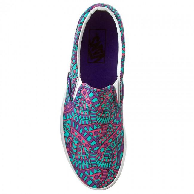 99723cf10f Plimsolls VANS - Classic Slip-On VN0003Z4IG4 (Liberty) Satchmo True White -  Sneakers - Low shoes - Women s shoes - www.efootwear.eu